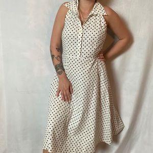 VINTAGE 90s DOES 50s POLKA DOT COLLARED DRESS
